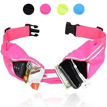 Running Belt for Women Men Waterproof Bumbag Pouch Money Belt For Keys Phone Holder Fanny Pack Accessories Sweat Belt Bag Waist Exercise Gym Runners Mens Womens Fitness