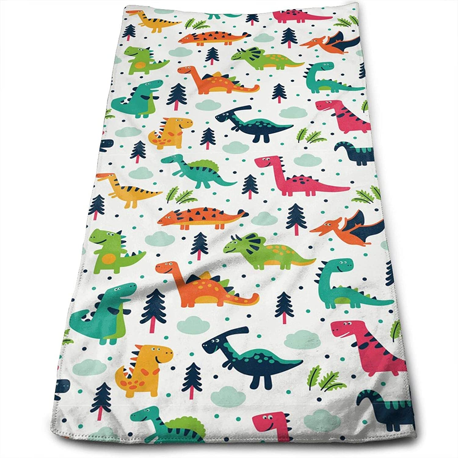 MSGUIDE Cute Dinosaur Forest Dino Dragon Hand Towels for Bathroom Clearance Decor Face Towels Microfiber Towels Soft Fingertip Towel for Gym Yoga Spa Pool Sport Hotel