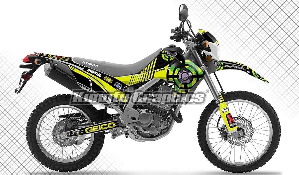 Style 001 Kungfu Graphics Custom Decal Kit for Honda CRF250L CRF250M 2012 2013 2014 2015 2016 2017 2018 2019 2020 Black
