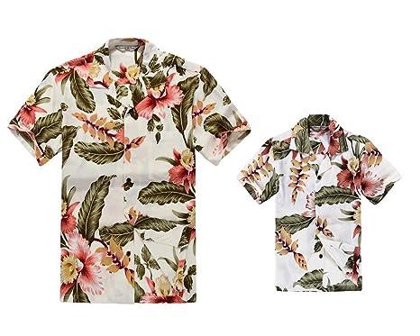 mejor valor precio asombroso muchos estilos Padre e Hijo a Juego Traje Hawaiano de Luau Camisa de Hombre ...