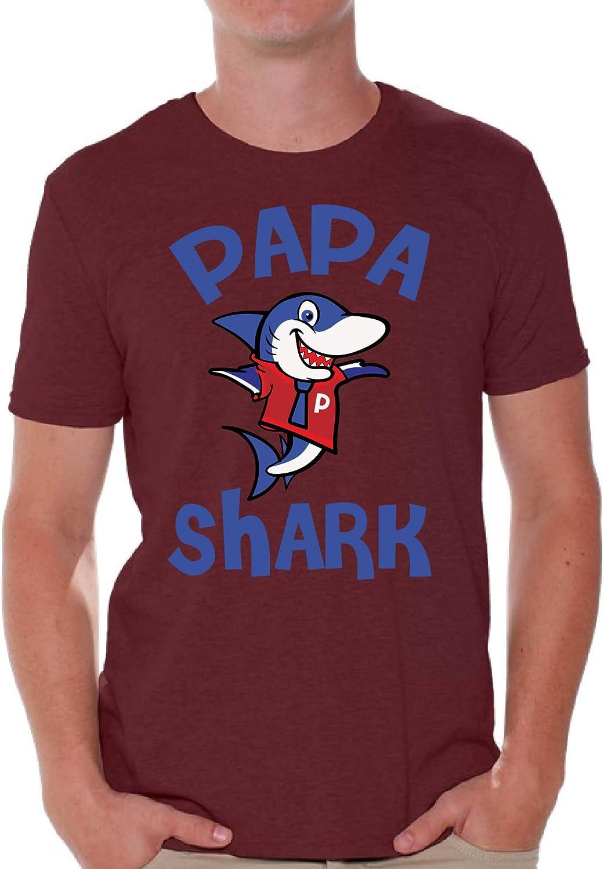 Awkward Styles Papa Shark T Shirt Shark Family Shirts for Men Matching Family Shirt