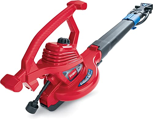 Toro 51621 UltraPlus Leaf Blower Vacuum, Variable-Speed up to 250 mph with Metal Impeller, 12 amp,Red