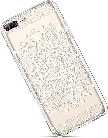 Felfy Etui Compatible avec Huawei Honor 9 Lite,Coque Huawei Honor 9 Lite Transparente Silicone Housse de Protection Ultra Mince en Caoutchouc Souple Coquille Anti Choc T/él/éphone Bumper Case,Lapin