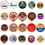 Perfect Samplers Coffee, Tea, Cider, Cappuccino, and Hot Chocolate Single Serve Cups For Keurig K cup Brewers, Perfect…
