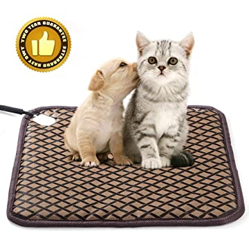 HD JUNTUNKOR Pet Heating Pad Large HDPET, Dog Cat Electric Heating Pad Indoor Waterproof Adjustable