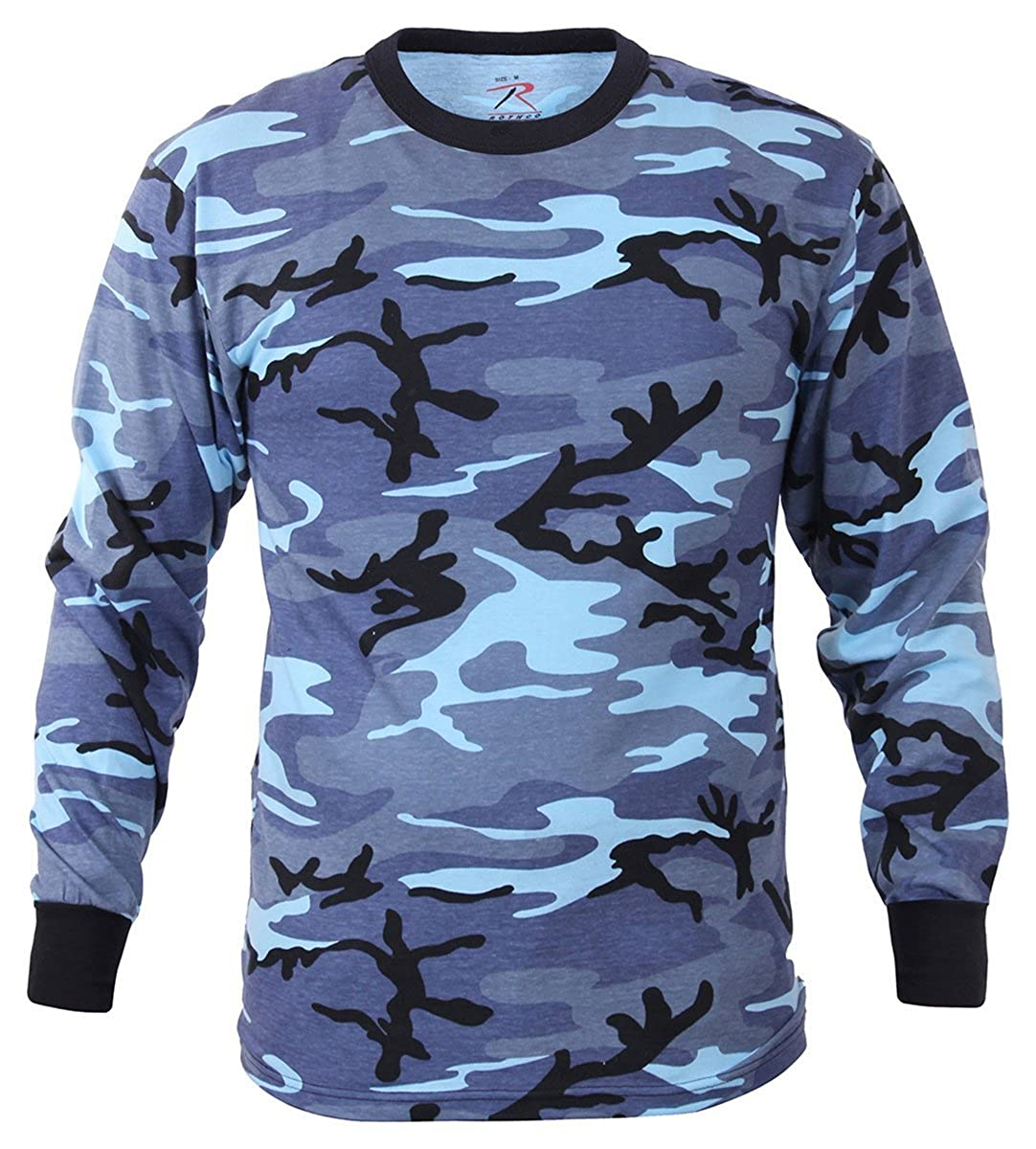 Rothco Long Sleeve Camo T-Shirt, Sky Blue Camo - Medium 67770MED