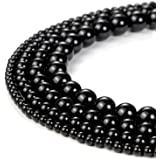 2mm Natural Black Onyx Beads Round Loose Gemstone Beads for Jewelry Making Strand 15 Inch (195-200pcs)