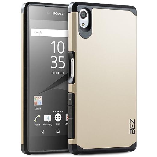8 opinioni per Cover Sony Xperia Z5, BEZ® Cover Protettiva con Impact Absorbing [Protezione