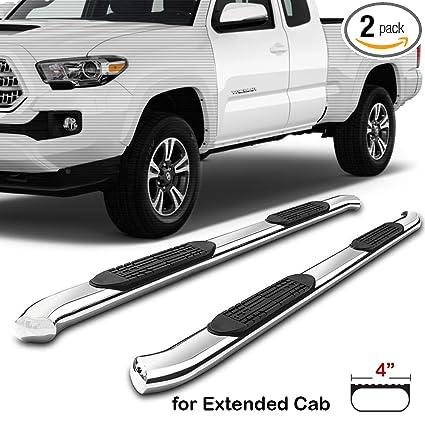 "For Toyota Tacoma 05-19 3/"" Cab Length Polished Round Bent Tube Step Bars"
