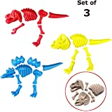 ToyZe® 3 Large Dinosaur Sand Molds, Dinosaur Fossil Skeleton Beach Toy Set