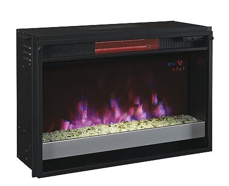 ClassicFlame 26II310GRG-201 26 Contemporary Infrared Quartz Fireplace Insert with Safer Plug