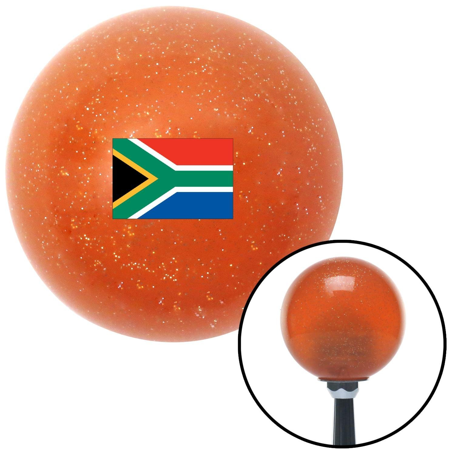 American Shifter 302922 Shift Knob South Africa Orange Metal Flake with M16 x 1.5 Insert