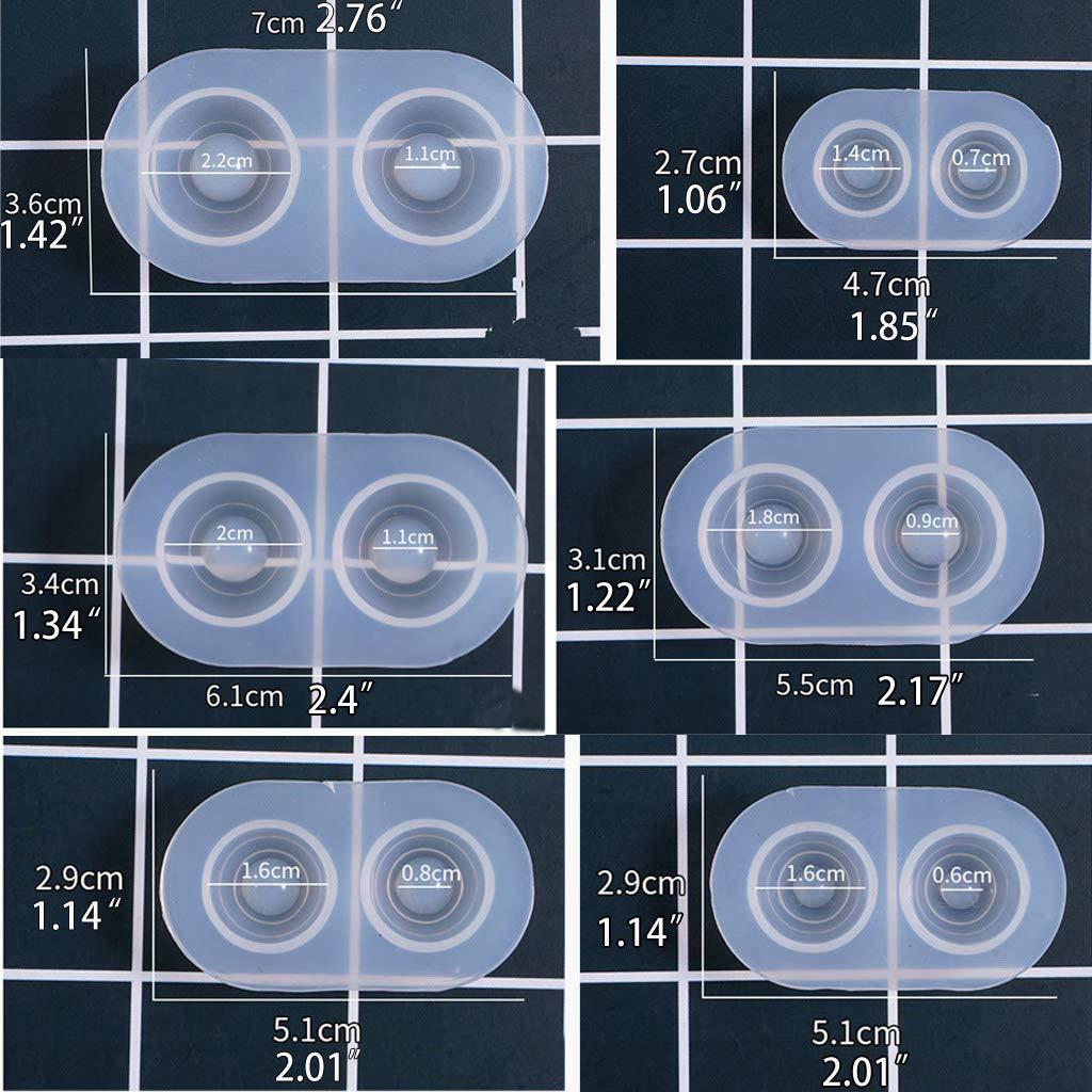Stampi in Silicone per Occhi di Bambola 6 Misure PINH-lang Cyber Monday 2019