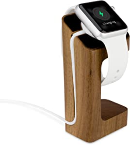 BoxWave Apple Watch 42mm True Wood Watch Stand - Charging Station for Your Apple Watch 42mm – Real Wood Platform and Charging Cradle for The Apple Watch 42mm (Cherry)