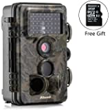 Trail Camera, Papake 1080P HD Wildlife Camera 12 MP Surveillance Camera with 3 Zone Infrared Sensor, IP66 Waterproof, Time Lapse 65ft 120°Wide Angle Night Vision with 42pcs IR LED