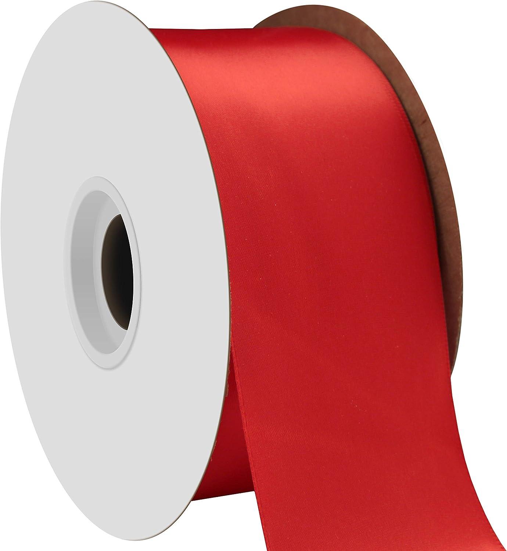 Cream Offray Single Face Satin Craft Ribbon 2-1//4-Inch by 10-Yard Spool