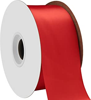 "product image for Offray Berwick 2.25"" Single Face Satin Ribbon, Red, 50 Yds"