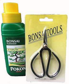 Bonsai Baum Pflege Set 2 Teilig Flussignahrung Und Schere Amazon