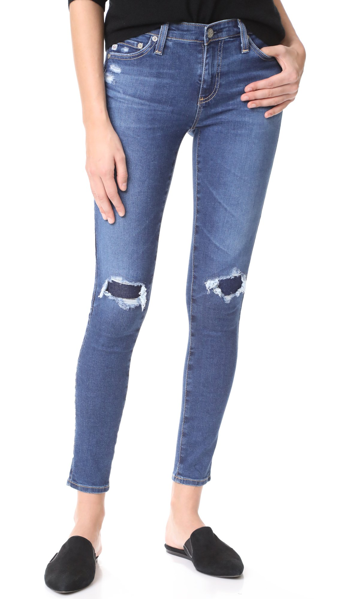 AG Adriano Goldschmied Women's The Legging Ankle Mended Jean, 13 Years-Dawn Mended, 31