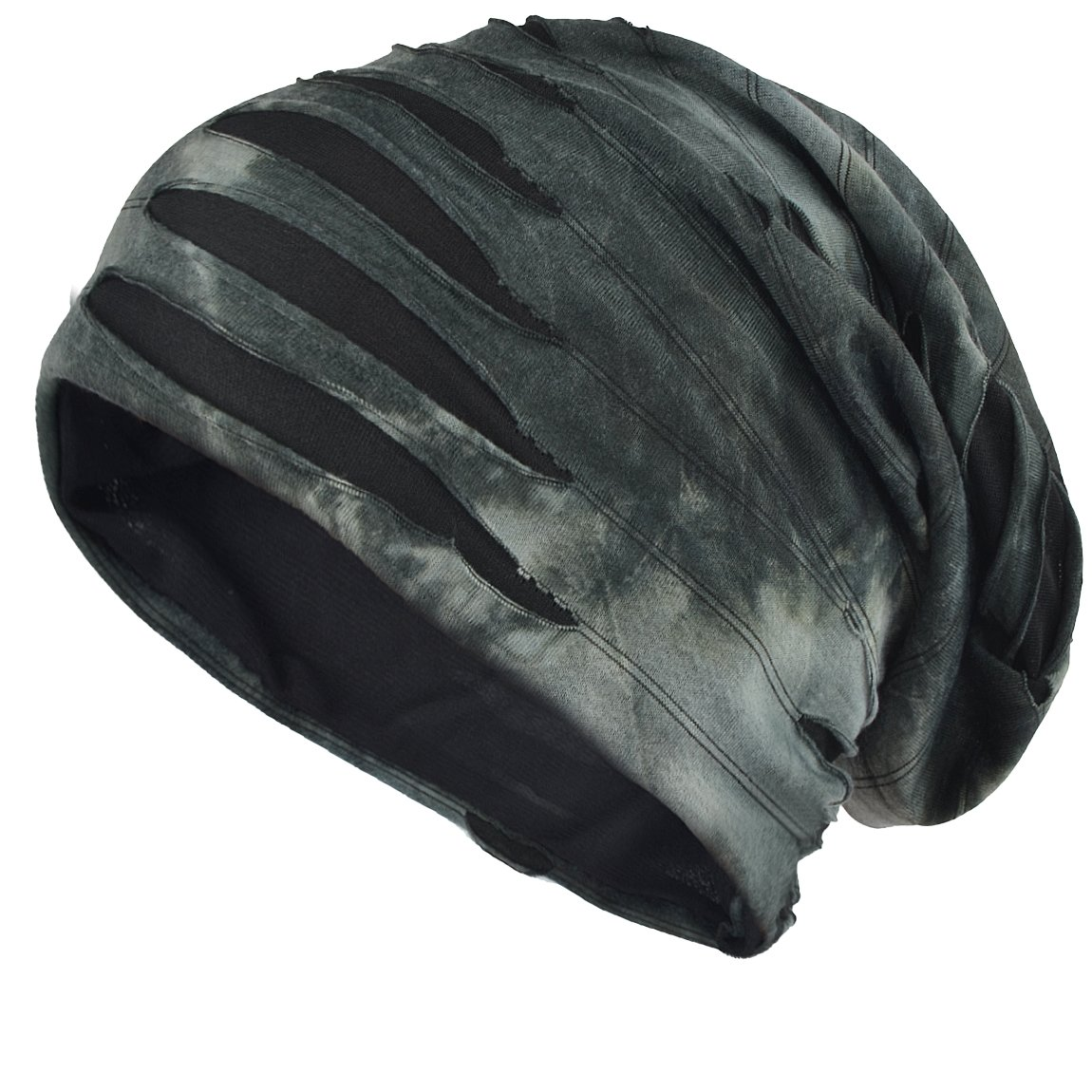 FORBUSITE Distressed Slouchy Summer Beanies Cap for Men B090 (Grey)