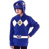 The Power Rangers Boys Mesh Face Covering Full-Zip Costume Hoodie