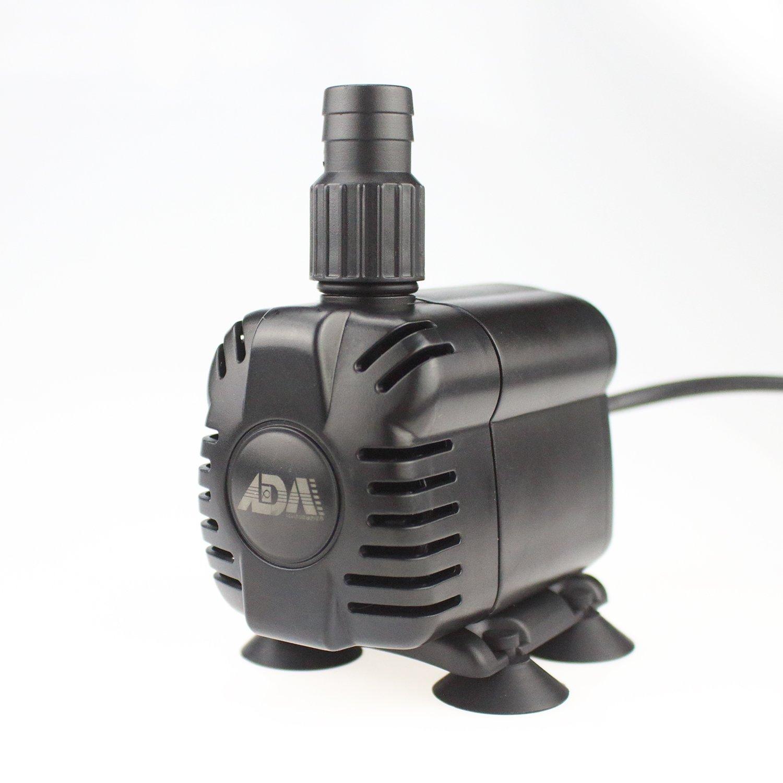 ADA 小型水中ポンプ 10W 水族館給水・排水ポンプ 吐出量900L/H 最大揚程1.2M 水槽水循環ポンプ 静音