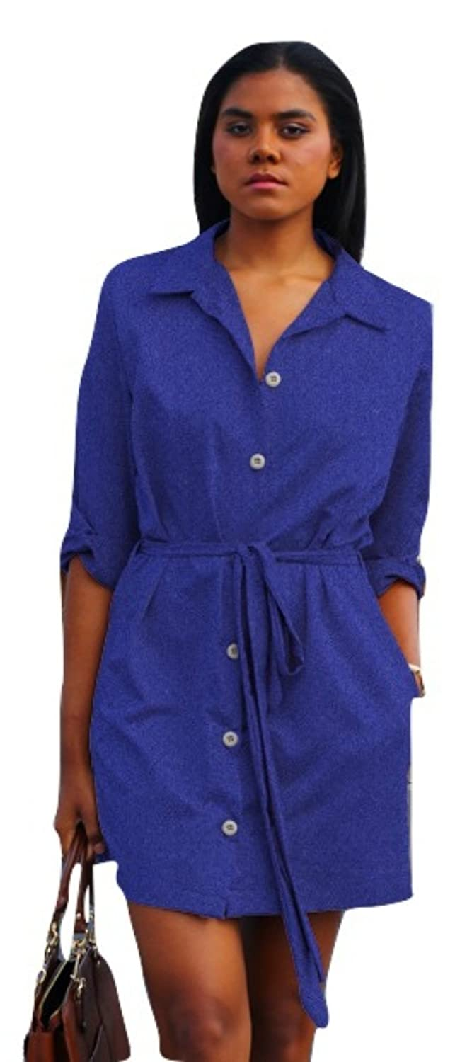 Suuchi Custom Made Shirt Dress (More Blessed (20), Purple Blue Stretch)