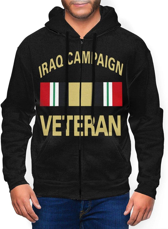 ZHENGLONGbang Iraq Veteran Mens Hoodies Pullover Zip Fleeces with Pockets