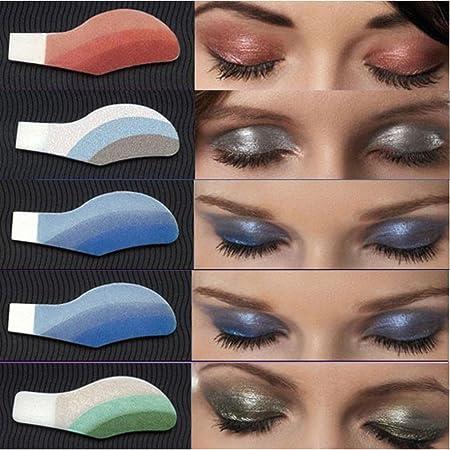 Kanzd 6 pares instantáneos sombra de ojos temporales maquillaje ...