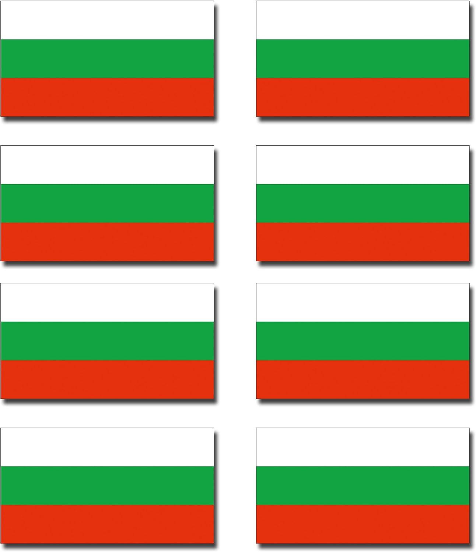 8 x pegatinas vinilo brillante? Bulgaria búlgaro pequeño bandera banderas para casco de moto/bicicleta/# 0196: Amazon.es: Coche y moto