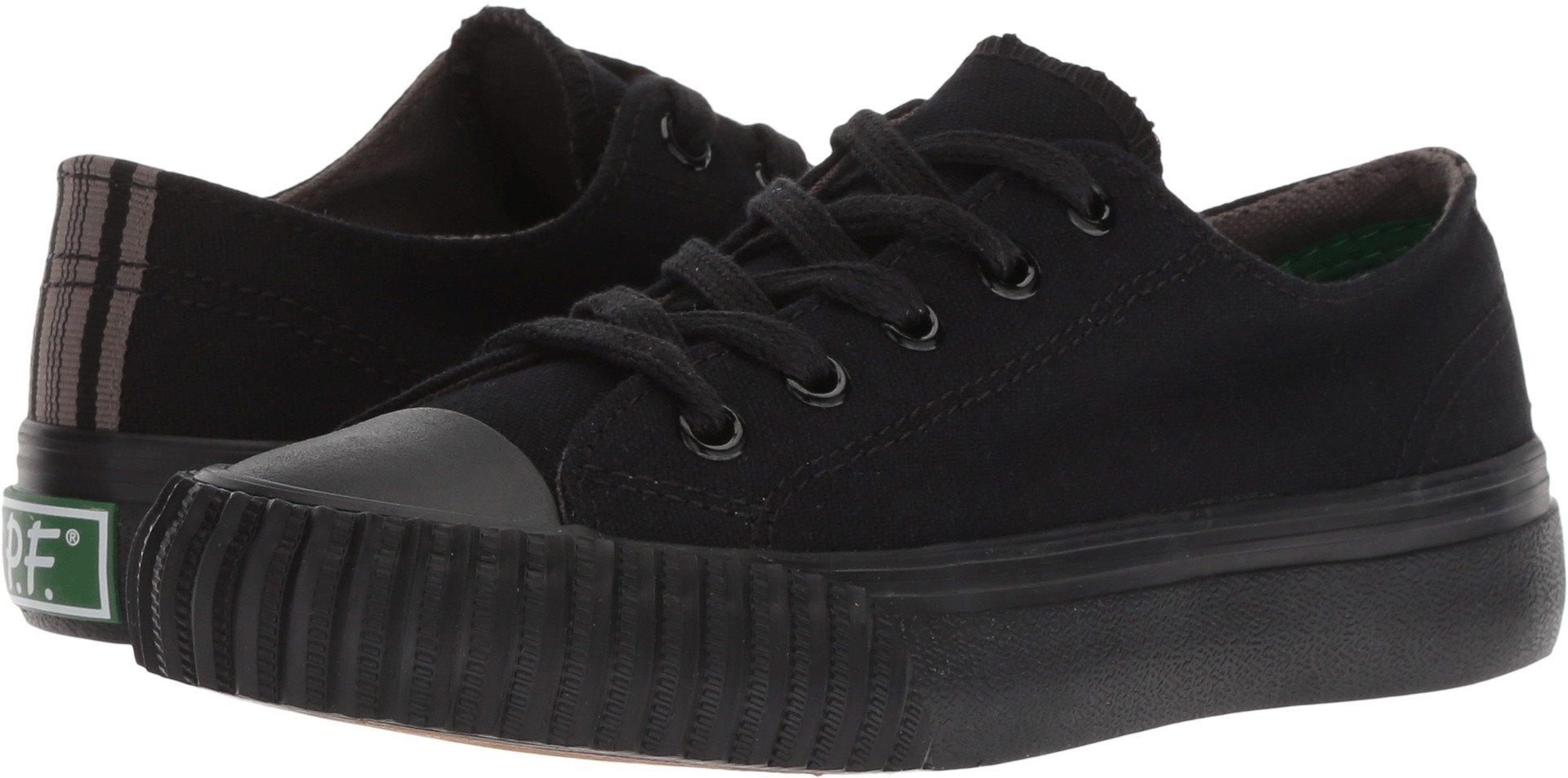 PF Flyers Boys' KC2002SL, Black, 13 Medium US Little Kid