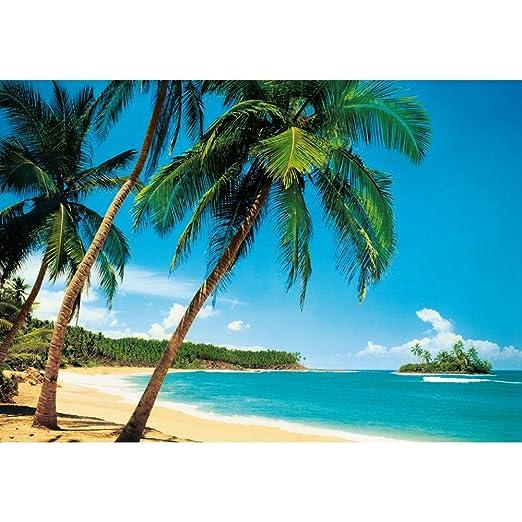 Wg Giant 8 Part Tropical Island Beach Sea Palm Tree