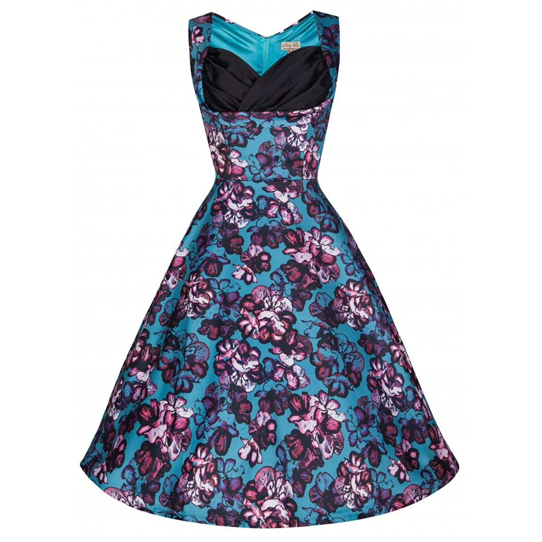Lindy Bop 'Ophelia' Vintage 50's Inspired Jive/Swing Dress In Water Garden Print