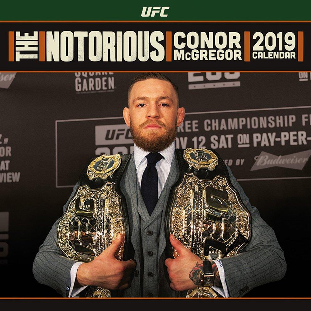 Ufc Calendar 2019 UFC   Conor McGregor Officially Licensed 2019 Square Calendar
