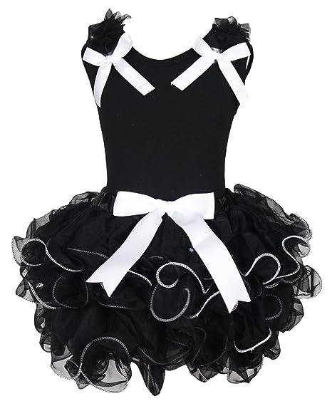 Saint Valentin Robe Coton Noir pour homme ruban Noir Pétale Jupe Fille  Ensemble Tenue 1– b30a659a0cd