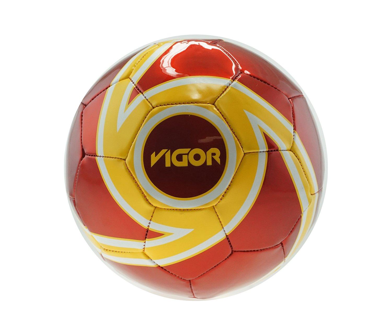 mozlly diseño de balón de fútbol con colores amarillo y rojo ...