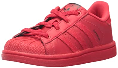 adidas Originals Baby Superstar Triple Red EL I, Rayred,Rayred,Cblack, 4