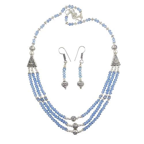 72ce46a7a2a4 Collar Indio Conjunto Hermoso Diseño Étnico Silvertone Bisutería ...