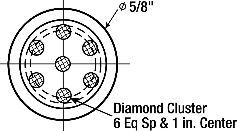 1 per case 7//16 x 1 Shank 3M Industrial Market Center 7//16 x 1 Shank 3M 20789 Diamond Multi-Point Dressing Tool CL7S1