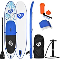 COSTWAY 10FT/11FT SUP Inflatable Stand Up Paddle Board W/Carry Bag, Repair Kit, Tail Vane, Adjustable Paddle, Hand Pump with Pressure Gauge, Ideal Beginners Soft Surfing Board Kit