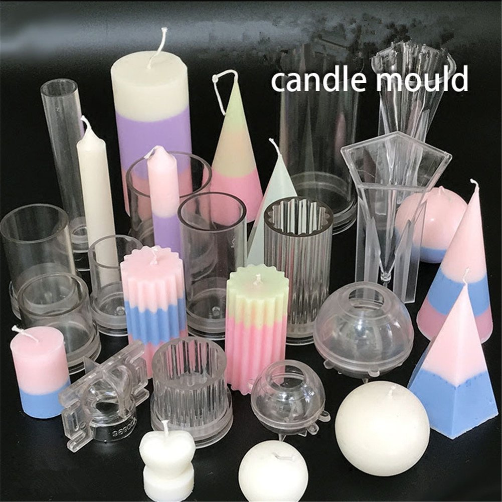 Oameusa 14Pcs Candle Making Molds,Candle Molds set - Plastic candle molds for making candles