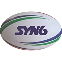 Syn6 Unisex Rubber Rugby Ball - 1, Blue & White