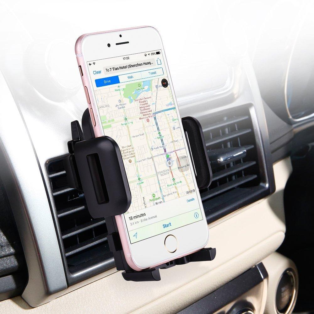 Adjustable 360 Degree Rotation Cellphone Mount iPhone X//8//8 Plus//7//7 Plus Samsung Galaxy S9//S9 Plus//S8//S8 Plus Google LG Huawei More Air Vent Car Mount Holder Car Phone Mount