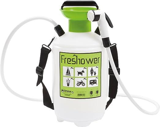 Freshower 7 8311.S00 - Ducha portátil (plástico, 19 x 19 x 41 cm), Color Transparente, Verde y Negro: Amazon.es: Jardín