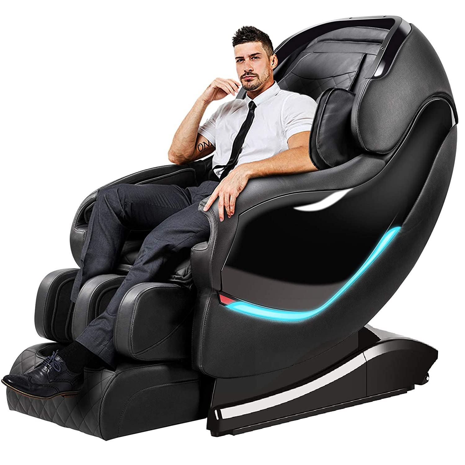 OOTORI Massage Chair Recliner, SL-Track Zero Gravity, Full Body Shiatsu Electric Massage Chair with Tapping Heating Stretching Swedish Massage Back and Foot Massagers Black