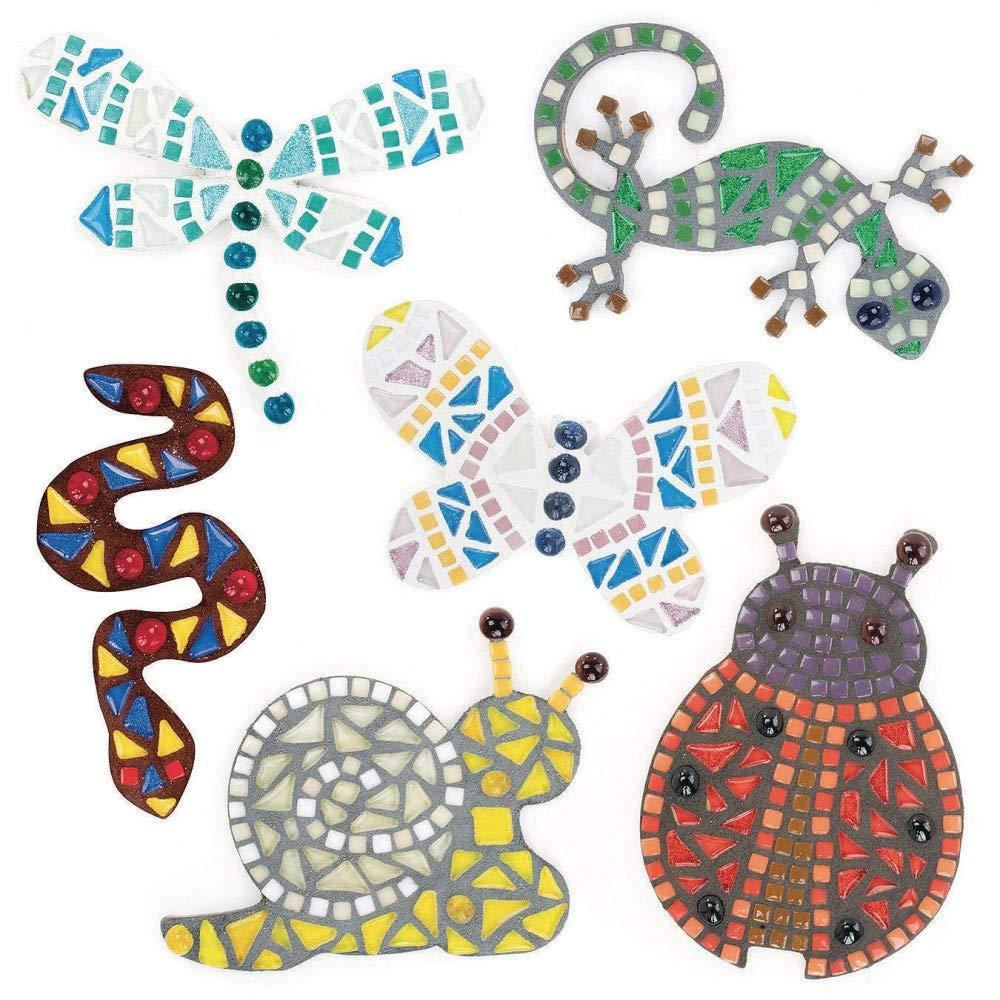Pack of 6 Mosaic Garden Buddies Craft Kit