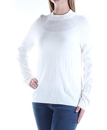 27e14d811c77b2 Karen Scott Womens Mock-Turtleneck Long Sleeve Pullover Sweater Ivory XL