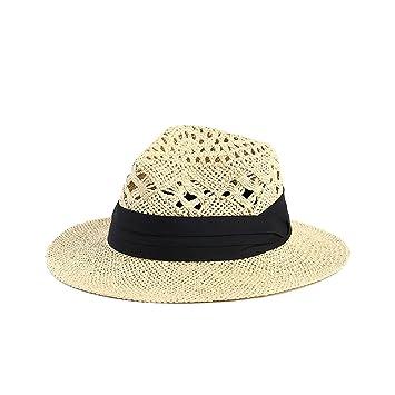 B dressy Handmade straw hats Summer Sun hat Men and women Leisure Wild Hat  Skull cap 37fc86bf5ed