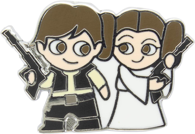 Paladone Leia and Han Solo-Pin esmaltado Oficial de Disney ...