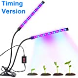 Bchway Dual-lamp Grow Light 36LEDs 3 Modes Timing Dimmable 4 Levels Plant Grow Lamp Lights with 360 Degree Flexible Gooseneck Indoor Home Office Plants Hydroponics Greenhouse Gardening